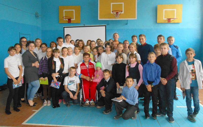 Песчанские школьники встретились с чемпионкой мира